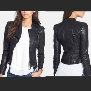 BLANKNYC Black Faux Leather Moto Jacket size M